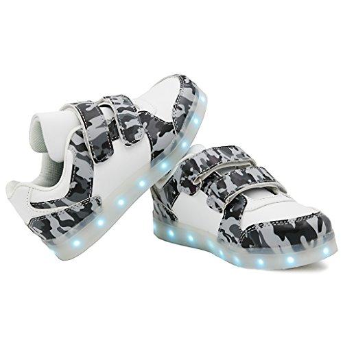 bevoker 7 Couleurs LED Lumière USB Rechargeable Pour enfants Blanc
