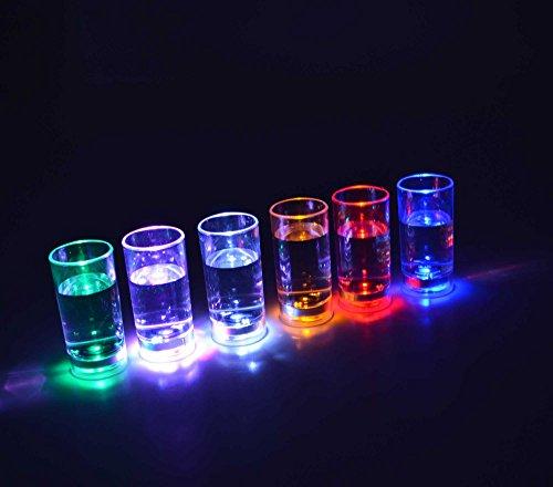 AQUAglow blinkender LED beleuchtet Hi Shot Party Brille, plastik, durchsichtig, 2