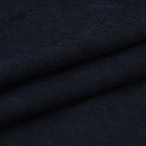 Ouneed® Femme Gilet Longue en Coton Blue marin