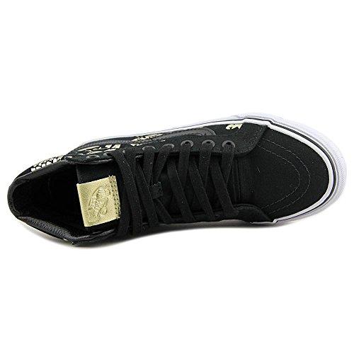 Vans Sk8-Hi Slim Toile Chaussure de Basket (50Th) Duke-Black-Gold Foil
