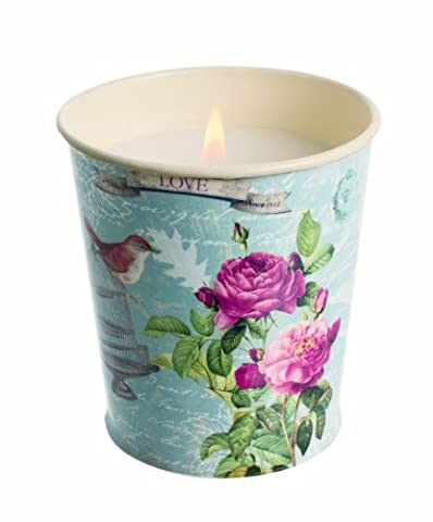 Stoneglow - Bird Cage Flower Pot Scented Candle - Rose, White lilies, White musk and exotic sandalwood