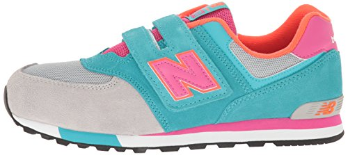 New Balance KV574WTYM Sneaker Kinder Mehrfarbig Grey/turquoise -he ...