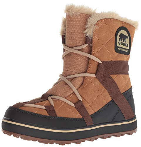 Sorel Damen Schnee (Sorel Damen Glacy Explorer Shortie Boots, braun (elk), Größe: 40)