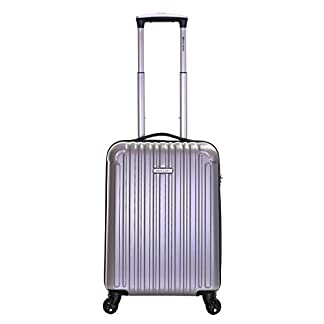 Pierre Cardin Orbis 55cm 4-ruedas maleta de cabina dura, Plata