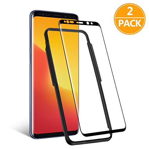 TAOZZY - Pellicola salvaschermo in Vetro temperato per Samsung Galaxy S9 (AntiGraffio/Installazione Gratuita/Senza Bolle) Rinforzata per Samsung Galaxy S9 (2 Pezzi)