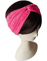 Lucky Will elegante encaje Cruz trenzado Bandanas Headwrap diadema pelo banda turbante Pañuelo en la cabeza para mujeres señoras