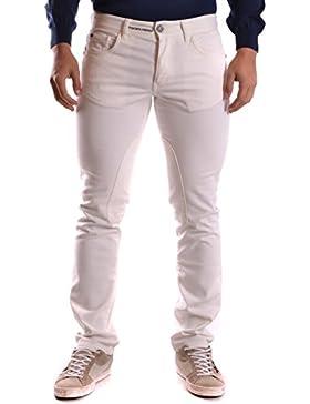 Etiqueta Negra Hombre MCBI118023O Blanco Algodon Jeans