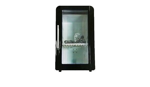 Mini Kühlschrank Mit Sichtfenster : Seaflo mini kühlschrank mit sichtfenster schwarz: amazon.de: küche