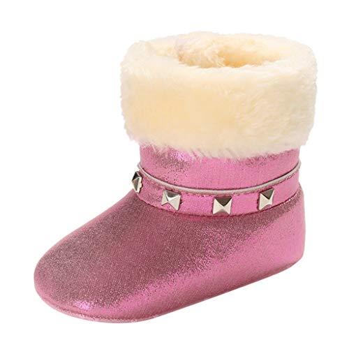 Alwayswin Babyschuhe Neugeborenes Baby Winter Plüschschuhe Warme Kurze Stiefel Plüsch Booties Mädchen Jungen Lauflernschuhe Bequem Warme Schuhe Weiche Sohle Schuhe Kleinkindschuhe -
