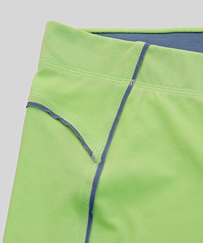 SYROKAN Damen Leggings Sport Strumpfhose - Capri Pants Laufenhose Mint Grün