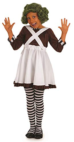 Fancy Me Mädchen Kinder Kinder Oompa Loompa Büchertag Woche Halloween Kostüm Kleid Outfit - Weiß, 6-8 Years