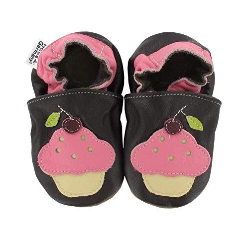 HOBEA-Germany Krabbelschuhe für Mädchen, Schuhgröße:20/21 (12-18 Monate), Modell Schuhe:Cup Cake