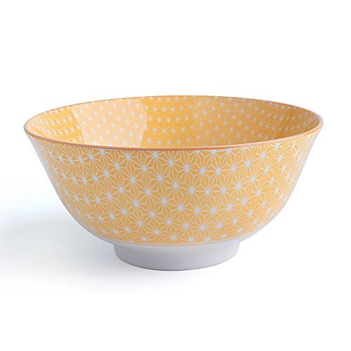 Excelsa Oriental-Cuenco de Porcelana, Porcelana, Amarillo, 16 cm