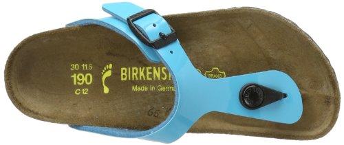 Birkenstock Gizeh Birko Flor, Tongs fille Bleu (Blue (Turquoise))