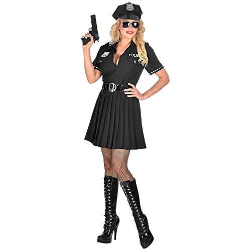 Widmann 05082 Kostüm Polizistin, Damen, Schwarz, - Verführerische Polizistin Kostüm