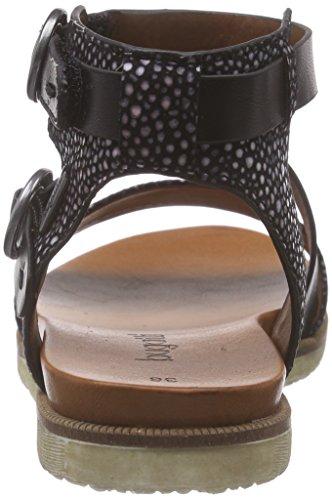 Bugatti V65836n6, Sandales Bride cheville femme Noir (schwarz 100)
