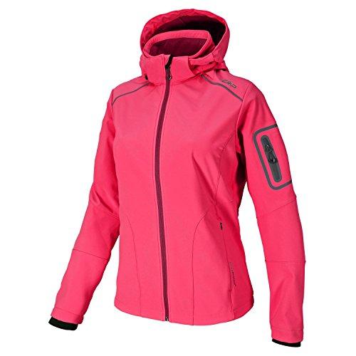 Softshell Outdoor Jacke CMP für Damen mit FleeceInnenausstattung und Kapuze,  in vielen Farben erhältlich Wasserabweisend mit Windstopper Für Schule,  Wandern ...