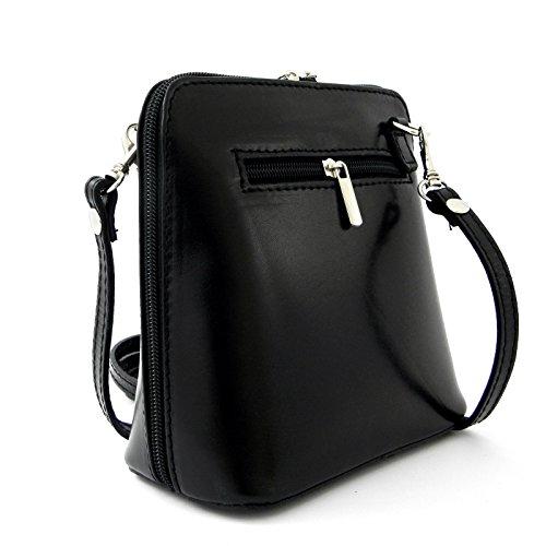 e2f80733b97f7 Vera Pelle Handtaschen Italien Echt Leder Schultertasche Frauen Damen  Tasche Handtasche Ital Bag Schwarz Plain ...