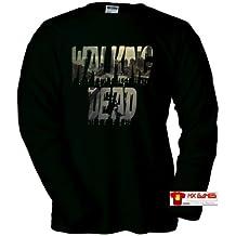Camiseta Walking Dead (Alone) (Talla: Talla M Unisex Ancho/Largo [53cm/72cm] Aprox], Tipo de Manga:Larga Unisex)