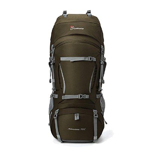 HWLXBB Outdoor Bergsteigen Tasche und Frauen 80L Wasserdichte Mehrzweck-Bergsteigen Tasche Wandern Camping Bergsteigen Freizeit Rucksack Rucksack 6*