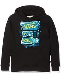 Vans Stenciled II de los niños suéter, Niños, Stenciled II Pullover, negro, large