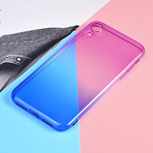 QINPIN TPU-Schutzhülle mit Farbverlauf Einzigartige Schutzhülle für iPhone XS 5.8 Zoll/XS Max 6,5...