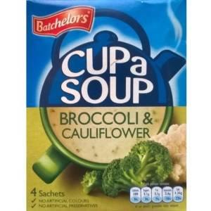 Batchelors Cup una zuppa di broccoli e cavolfiore - 6 x 4 bustine