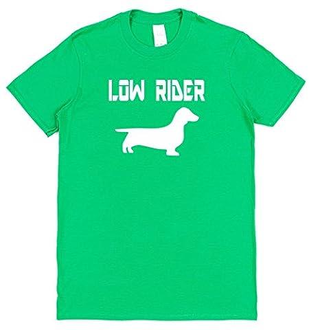 Low Rider Cotton T-Shirt Dachshund Sausage Dog