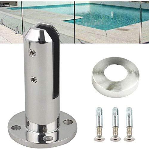 Sanmubo Heavy Duty Edelstahl Glas Clip Glas Pool Zaun Balustrade Geländerpfosten Edelstahl Schwimmbad Glas Clip Boden Glas Feste Armaturen -