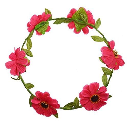 - Kranz Blumen rosa–Schmuck mit Kopf–Zubehör Haar Damen oder Kinder (Kind Kopf Kranz)