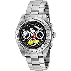 Invicta 25192 Disney Limited Edition Mickey Mouse Reloj Unisex acero inoxidable Cuarzo Esfera negro