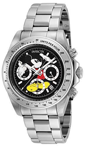 Invicta 25192 Disney Limited Edition Mickey Mouse Reloj Unisex acero inoxidable Cuarzo Esfera negro