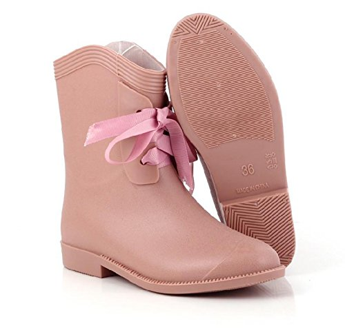 Pvc Scrub Flugzeug Fashion Madam Regen Stiefel Pink
