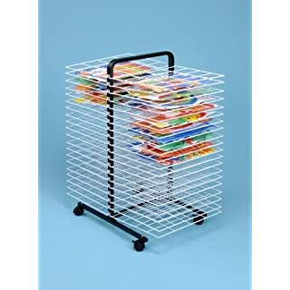 40 Shelf Mobile Paint Drying Rack Large / Childrens Paint Dryer- A1265