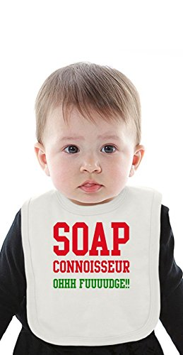 Soap Connoisseur Ohhh Fuuudge Funny Slogan Organic Bib With Ties Medium