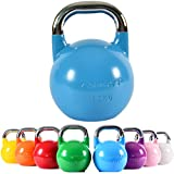 MSPORTS Kettlebell Competition 16 kg | Professional Studio Qualität | inkl. Übungsposter | Wettkampf Kugelhantel
