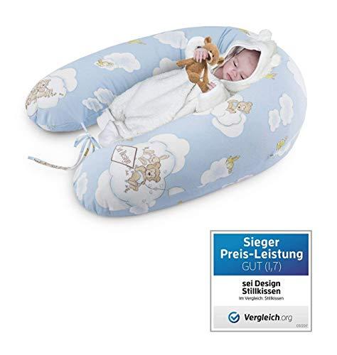 Sei Design Stillkissen Schwangerschaftskissen   Füllung: 3-D Faserbällchen Ökotex zertifiziert. Bezug mit Reißverschluss. XXL 190 x 30 cm
