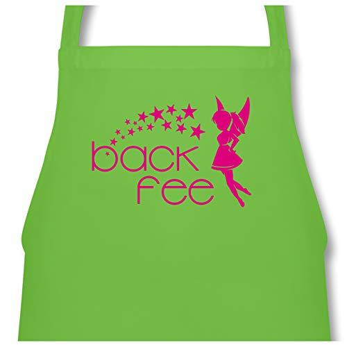 Shirtracer Küche - Back Fee Sterne - 60 x 87 cm (B x H) - Hellgrün - PW102 - Kochschürze für Männer und Damen -