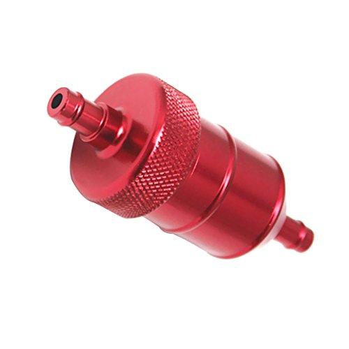 MagiDeal Kraftstofffilter Benzinfilter 8mm Universal für Motorrad - Rot