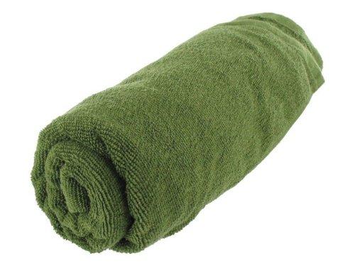 Highlander Cotton Travel Military Sports Towel Large Green Gym 60cm x 100 cm Large by Highlander