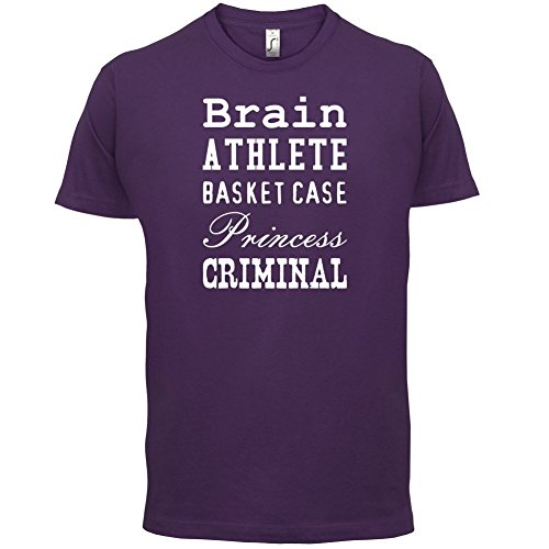 Brain Athlete Basket Case Princess Criminal - Herren T-Shirt - 13 Farben Lila