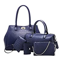 MY2 Multi-Function Five -Piece Set Tote Bag for Women - Blue
