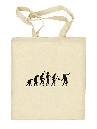 Shirtstreet24, EVOLUTION TENNIS, Stoffbeutel Jute Tasche (ONE SIZE) Natur