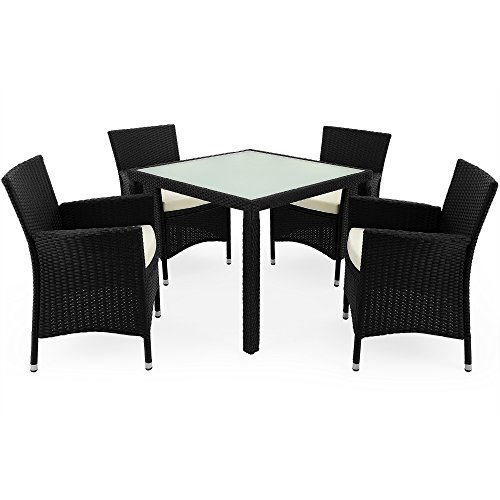 Poly rattan garden furniture dining table and chairs set for 4 seater dining table and chairs