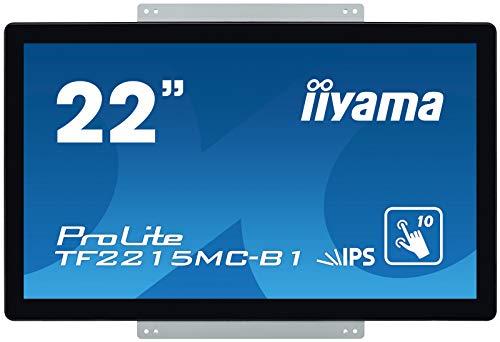 iiyama ProLite TF2215MC-B1 54,6cm (21,5 Zoll) IPS LED-Monitor Full-HD Open Frame 10 Punkt Multitouch kapazitiv (VGA, HDMI, DisplayPort, USB für Touch, IP65) schwarz