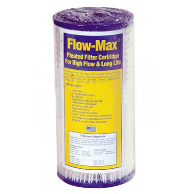 Pleated Filter Media (Flow-Max FM-BB-20-5 Full Flow/BB 20 inch 4 1/2 inch 5 Synthetic Filter Media Pleated Sediment Cartridge by Max-Flow)
