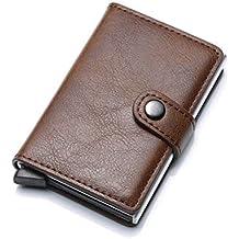 e2a99b4df HASAGEI Tarjetero Hombre Tarjeteros para Tarjetas de Crédito Automática  RFID Cuero Sintético para ...