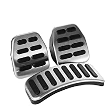 Car Pedals Manual Set Stainless Steel Manual Pedal Kit Foot Pedal Covers, Three Sets