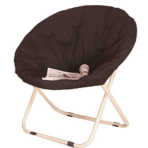 Accueil/Tabouret pour meubles de loisirs intérie Noir Grande taille Chaise précieuse Pause déjeuner Fold Fauteuil inclinable Nap Sofa (tapis de chaise amovible) durable par BZEI-Chair