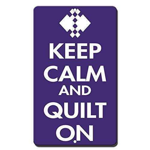 Fluse Keep Calm and Quilt On Vintage Metal Art Chic Retro Blechschild 8 x 12 Zoll Metallschilder - Retro-chic Quilt
